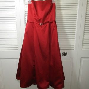 NWT David's Bridal Candy Apple Red Dress 10